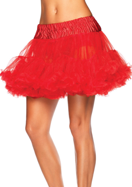 Layered Tulle Petticoat - Red