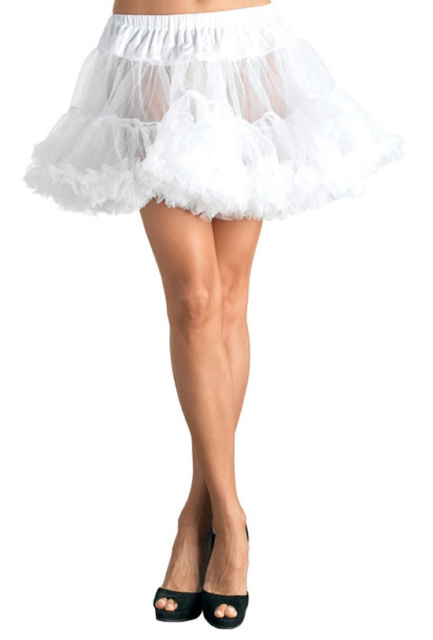 Layered Tulle Petticoat - White